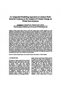 An Integrated Modelling Approach to Conduct Multi- factorial Analyses ...