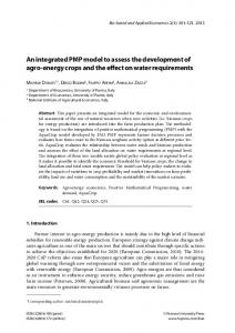 An integrated PMP model to assess the development ... - AgEcon Search