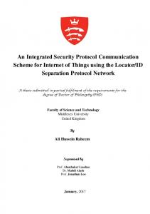 An Integrated Security Protocol Communication Scheme for Internet of ...