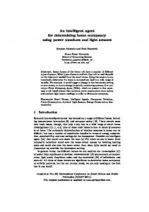 An intelligent agent for determining home ... - Semantic Scholar