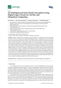 An Intelligent and Fast Chaotic Encryption Using Digital Logic ... - MDPI