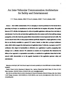 An Inter-Vehicular Communication Architecture for Safety ... - CiteSeerX