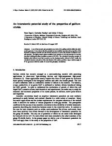 An interatomic potential study of the properties of gallium nitride