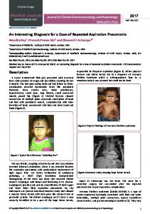 An Interesting Diagnosis for a Case of Repeated Aspiration ... - iMedPub
