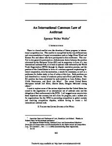 An International Common Law of Antitrust - SSRN papers
