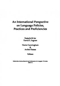 An International Perspective on Language Policies, Practices and ...