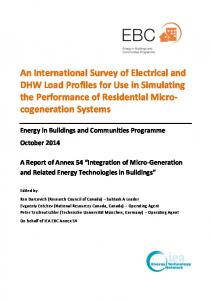 an survey of electrical and dhw load profiles ieaebc
