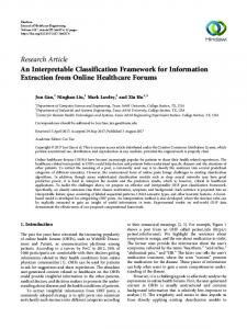An Interpretable Classification Framework for Information ...