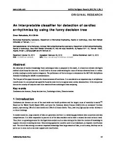 An interpretable classifier for detection of cardiac