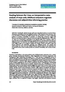 An Interpretative Meta-Analysis of Ways Early ... - SAGE Journals