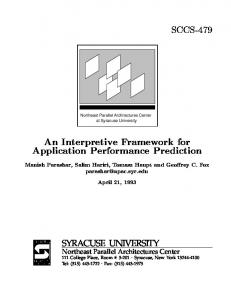An Interpretive Framework for Application ... - Semantic Scholar