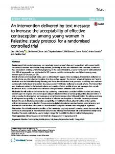 An intervention delivered by text message to increase ... - Trials Journal