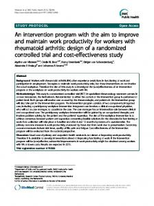 An intervention program with the aim to improve and ... - BioMedSearch