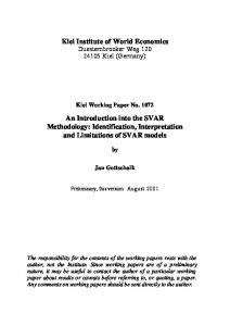 An Introduction into the SVAR Methodology: Identification ... - CiteSeerX