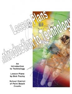 An Introduction Introduction to Technology to Technology Lesson ...