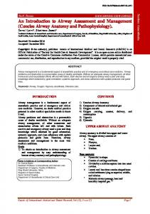 An Introduction to Airway Assessment and Management - Annals of ...