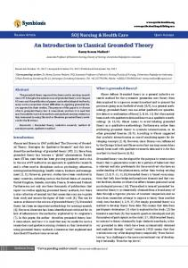 An Introduction to Classical Grounded Theory
