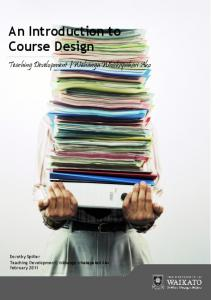 An Introduction to Course Design