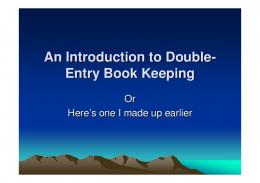 An Introduction to Double-Entry Book Keeping