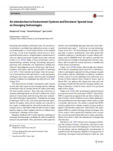 An introduction to Environment Systems and ...