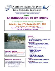 An Introduction to Fly Fishing An Introduction to Fly Fishing