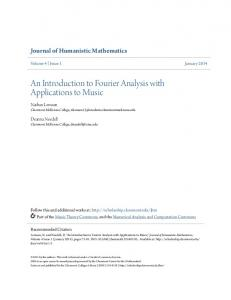 An Introduction to Fourier Analysis with Applications to Music