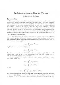 An Introduction to Fourier Theory