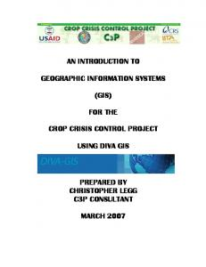AN INTRODUCTION TO GEOGRAPHIC INFORMATION SYSTEMS ...