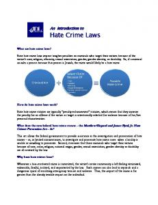 An Introduction to Hate Crime Laws (PDF)