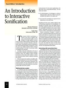 An Introduction to Interactive Sonification - CiteSeerX