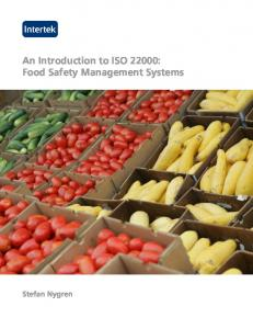 An Introduction to ISO 22000 - Intertek