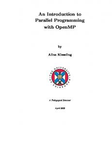 An Introduction to Parallel Programming with OpenMP