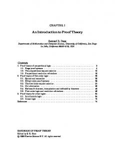 An Introduction to Proof Theory