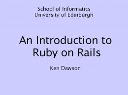 An Introduction to Ruby on Rails - Dice