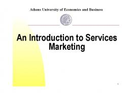 An Introduction to Services Marketing