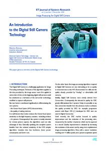 An Introduction to the Digital Still Camera ... - Semantic Scholar