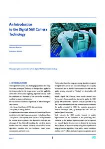 An Introduction to the Digital Still Camera Technology