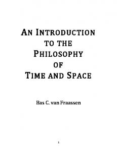 an introduction to the philosophy time and space - Princeton University