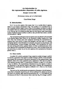 An introduction to the representation dimension of artin algebras. 0 ...