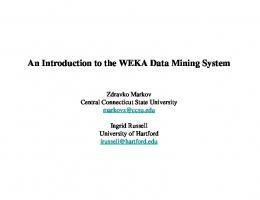 An Introduction to the WEKA Data Mining System - Computer Science