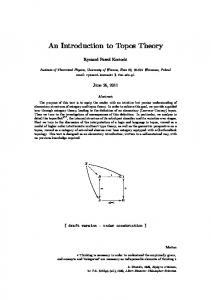 An Introduction to Topos Theory