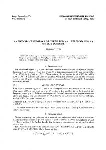 An invariant subspace problem for
