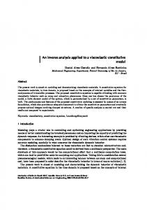 An inverse analysis applied to a viscoelastic constitutive model - ABCM