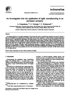 An investigation into the application of agile ... - CiteSeerX