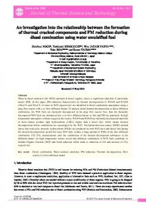 An investigation into the relationship between the formation of thermal ...