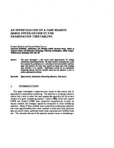 an investigation of a tabu search based hyper-heuristic for ... - CiteSeerX