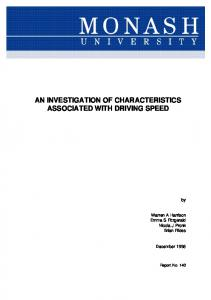 AN INVESTIGATION OF CHARACTERISTICS ASSOCIATED WITH ...