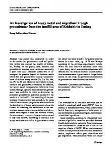 An investigation of heavy metal and migration through ... - Springer Link