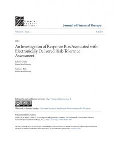 An Investigation of Response Bias Associated with