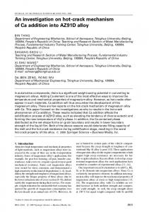 An investigation on hot-crack mechanism of Ca ... - Springer Link